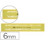 Normografo Mor 0.6 mm plástico amarillo transparente
