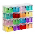 Organizador archivo plástico transparente con 16 compartimentos