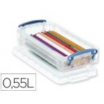 Organizador archivo plástico transparente con litros 40x100x220 mm