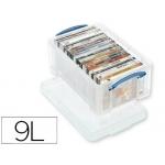 Organizador archivo plástico transparente con tapa9 litros 155x255x395 mm