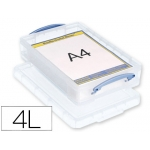 Organizador archivo plástico transparente con taptamano A4 litros 85x255x395 mm