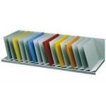 Organizador de armario fast- Paperflow color gris baldas fijas inclinadas 802 mm 206x310x912 mm