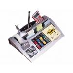 Organizador de sobremesa 3m incluye bloc de notas rollo de cinta scotch 4 dispensadores de banderitas