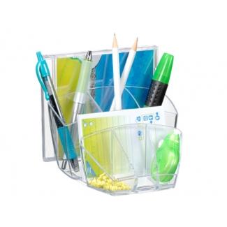 Organizador sobremesa Cep con 8 compartimentos plástico transparente