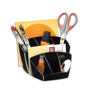 Organizador sobremesa Cep confor plástico color negro