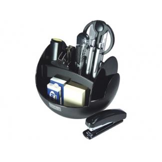 Organizador sobremesa color negro con accesorios