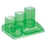 Organizador sobremesa plástico Offisys 5 departamentos color verde