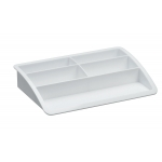 Organizador sobremesa plástico Offisys timeless color blanco 198x128x37 mm