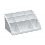 Organizador sobremesa plástico Offisys timeless color blanco 198x128x93 mm