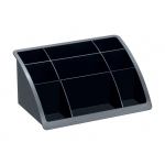 Organizador sobremesa plástico Offisys timeless color negro 198x128x93 mm