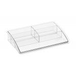Organizador sobremesa plástico Offisys timeless transparente 198x128x37 mm