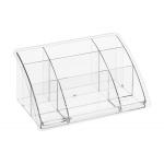 Organizador sobremesa plástico Offisys timeless transparente 198x128x93 mm