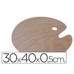 Paleta madera Artist ovalada tamaño cm