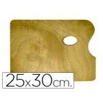 Paleta madera Artist rectangular tamaño cm