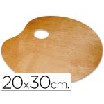 Paleta madera lidercolor ovalada tamaño 20x30 cm grosor 0,3 cm zurdos