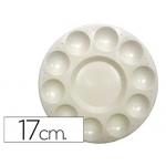Paleta plástico Artist circular con 10 huecos tamaño 17 cm