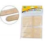 Palillo para manualidades madera color natural 15 x 2 cm blister de 100 unidades