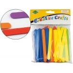 Palillos para manualidades goma eva 11 x 1 cm blister de 150 unidades colores surtidos