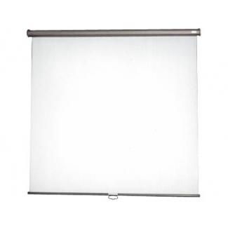 Pantalla mural de tela color Blanca mate 180x180 cm mecanismo de retención y enrollado automático