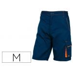 Pantalón de trabajo Deltaplus bermuda cintura ajustable 5 bolsillos color azul naranjatalla m