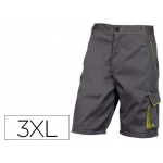 Pantalón de trabajo Deltaplus bermuda cintura ajustable 5 bolsillos color gris verde talla 3xl
