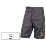 Pantalón de trabajo Deltaplus bermuda cintura ajustable 5 bolsillos color gris verde talla s