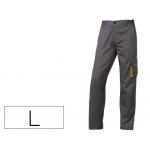 Pantalón de trabajo Deltaplus cintura ajustable 5 bolsillos color gris verde talla l talla l
