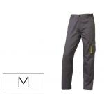 Pantalón de trabajo Deltaplus cintura ajustable 5 bolsillos color gris verde talla m