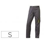 Pantalón de trabajo Deltaplus cintura ajustable 5 bolsillos color gris verde talla s