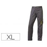 Pantalón de trabajo Deltaplus cintura ajustable 5 bolsillos color gris verde talla xl