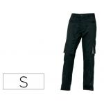 Pantalón de trabajo Deltaplus con forro en franela con 8 bolsillos color azul marino talla s