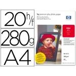 Papel Hp fotográfico premium p lus tamaño A4 (20h) 300gr/m2 cr672a