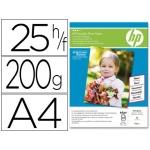Papel Hp fotográfico semi- satinado tamaño A4- 25 hojas- 200g