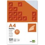 Papel Liderpapel tamaño A4 80 gr/m2 paquete de 100 sin taladros cuadrícula de 4 mm