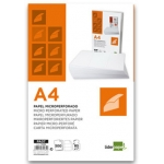 Papel Liderpapel tamaño A4 80 gr/m2 paquete de 500 hojas color blanco microperforado en tres partes iguales