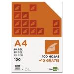 Papel Liderpapel tamaño A4 80 gr paquete de 100 hojas + 10 hojas gratis
