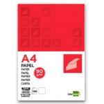 Papel Liderpapel tamaño A4 90 gr/m2 paquete de 100 color blanco