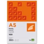 Papel Liderpapel tamaño A5 80 gr/m2 paquete de 100 color blanco