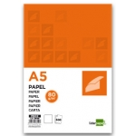 Papel Liderpapel tamaño A5 80 gr/m2 paquete de 500 color blanco