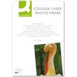 Papel Q-connect foto glossy tamaño A4 para fotocopiadoras e impresoras laser paquete de 100 hojas 218 gr