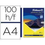 Papel carbon Pelikan color azul tamaño A4 caja de 100 unidades