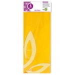 Papel celofan Liderpapel 50x70 cm 22g/m2 bolsa de 5 hojas amarillo