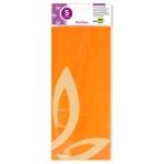 Papel celofan Liderpapel 50x70 cm 22g/m2 bolsa de 5 hojas naranja