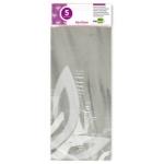 Papel celofan Liderpapel 50x70 cm 22g/m2 bolsa de 5 hojas transparente