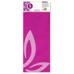 Papel celofan Liderpapel 50x70 cm 30g/m2 bolsa de 5 hojas rosa