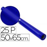 Papel charol rollo color azul 25 hojas de 50x65 cm
