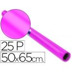 Papel charol rollo color rosa fuerte 25 hojas de 50x65 cm