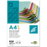 Papel color Liderpapel tamaño A4 80 gr/m2 10 colores surtidos paquete de 100
