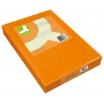 Papel color Q-connect tamaño A3 0gr naranja intenso paquete de 500 hojas