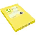 Papel color Q-Connect tamaño A3 80gr amarillo intenso paquete de 500 hojas
